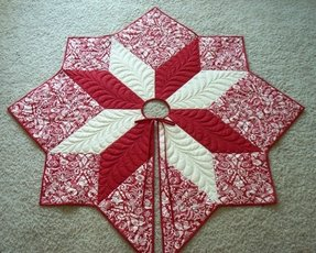 Christmas tree skirt quilt pattern free