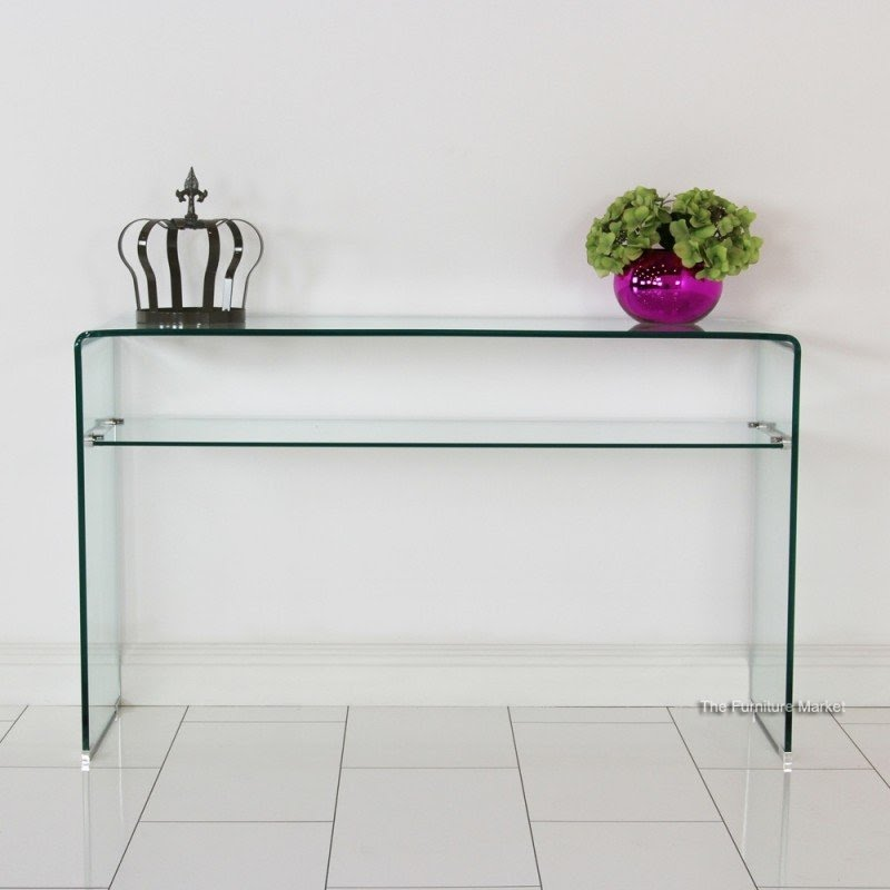 Attrayant Clear Glass Console Table
