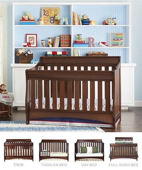 Crib Sleigh Bed 3