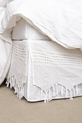 Crocheted bed skirt