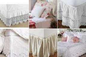 Crocheted bed skirts