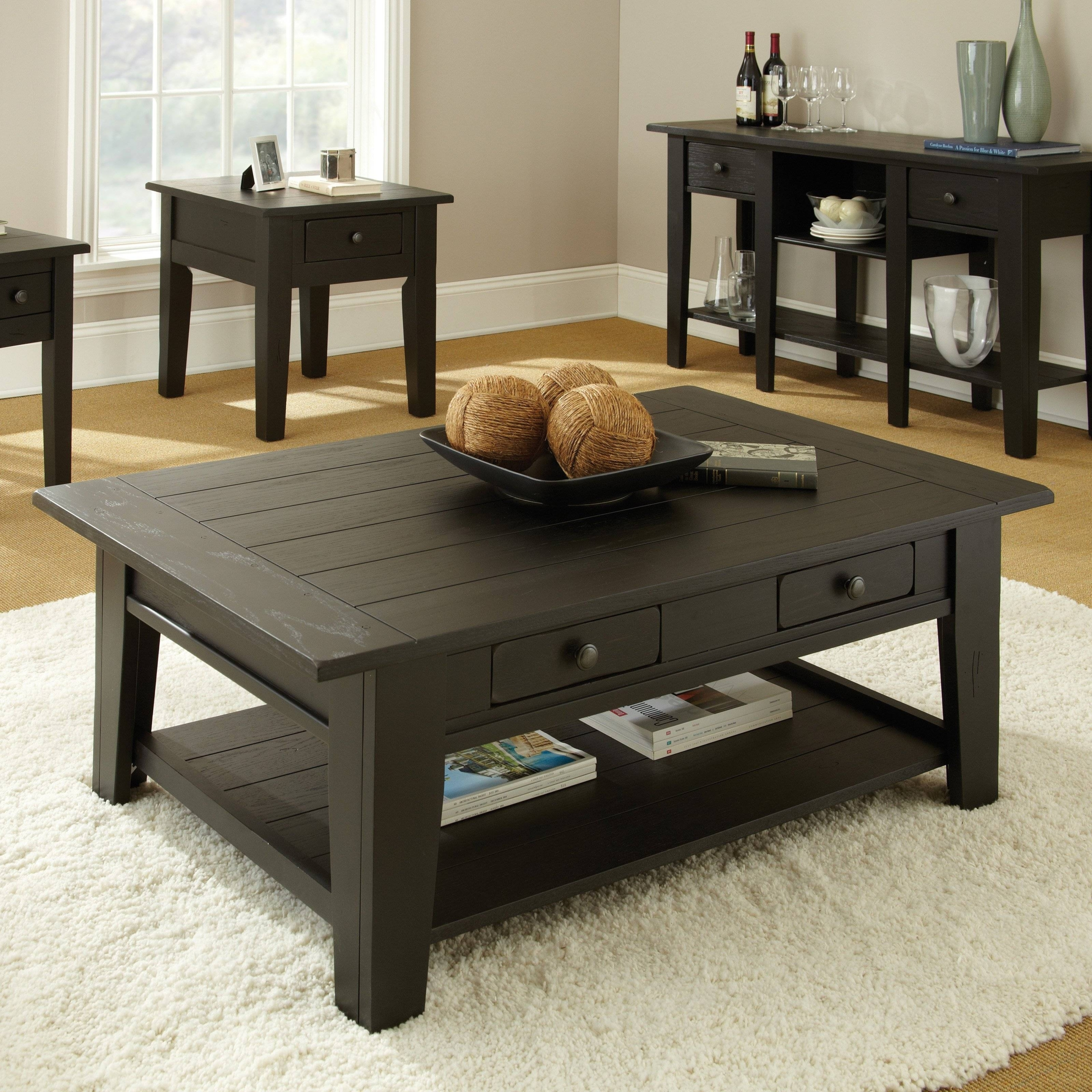 Ordinaire Dark Wood Square Coffee Table