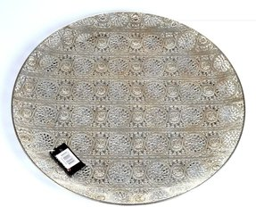 Decorative Plate Luminous Lace Collection Silver Tray Extra Large