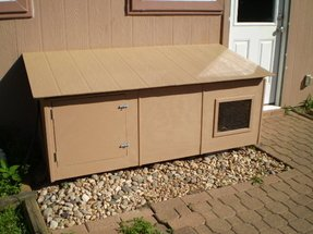 Designer cat box enclosure