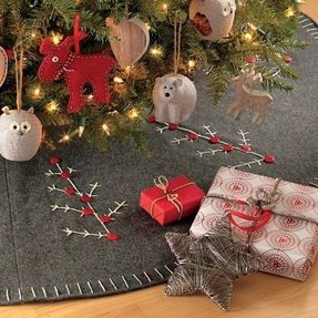 Designer christmas tree skirts 2