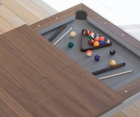 Dinner table and pool table poker table in 1