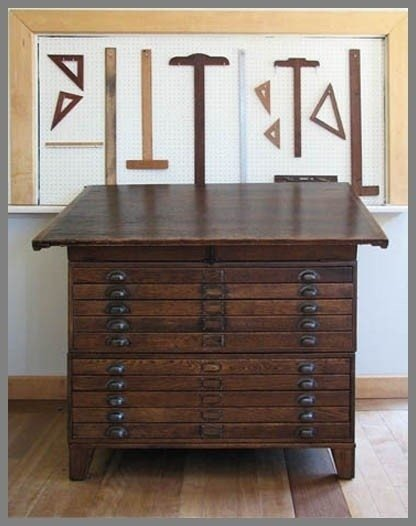 Drafting Table With Drawers