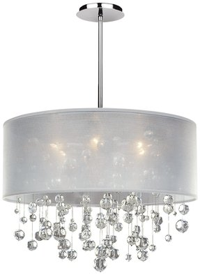 Drum chandelier with crystals