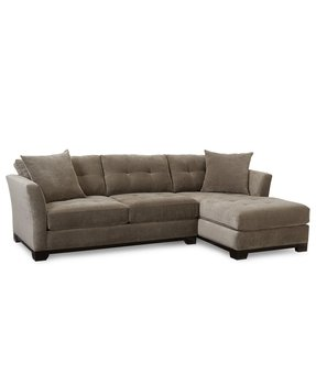 Elliot fabric microfiber sectional sofa 2