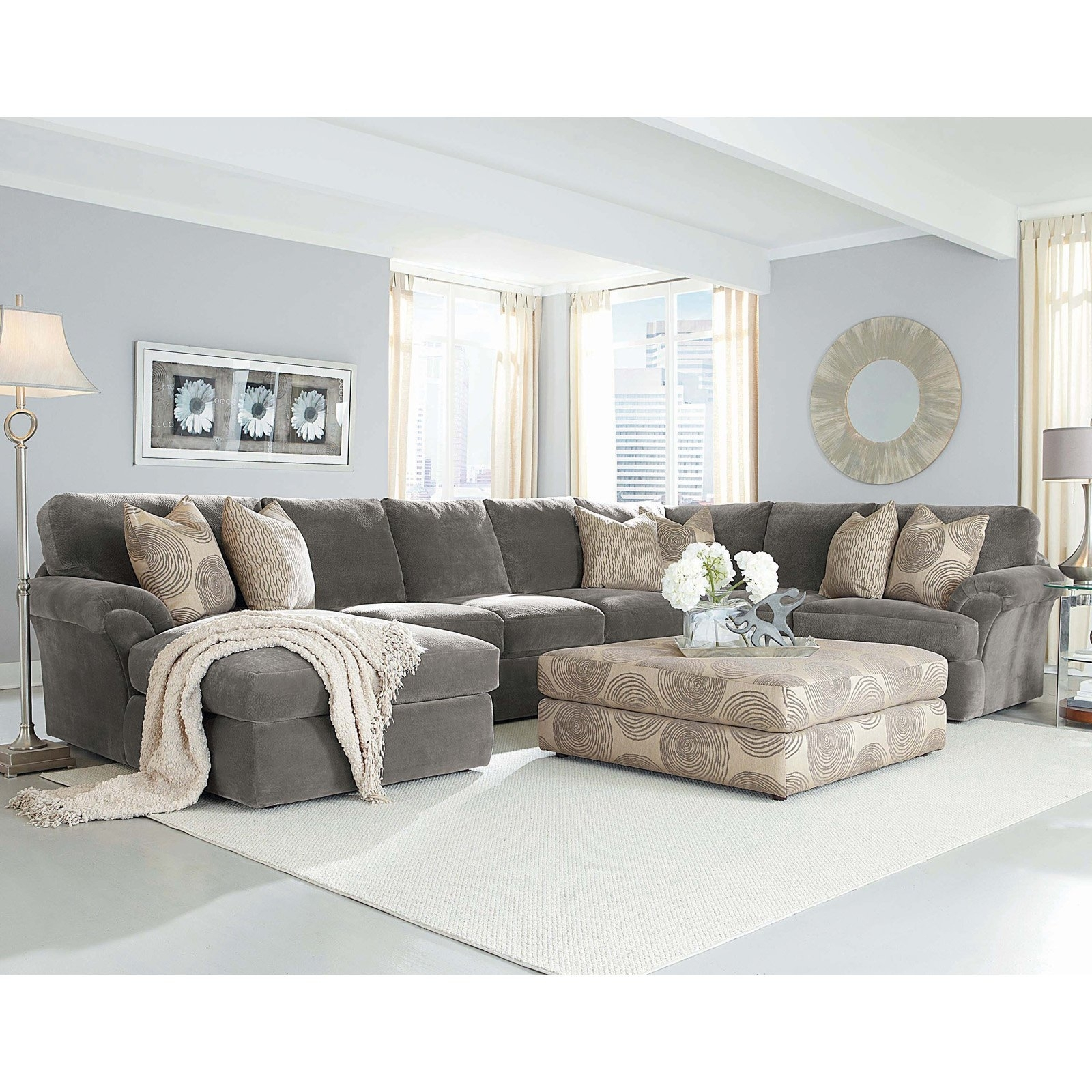 Microfiber Chaise Sectional Foter