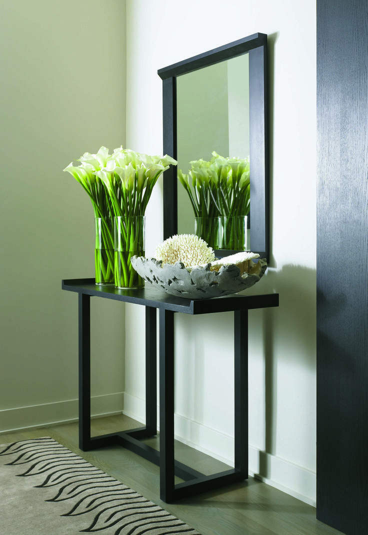 Entryway Table And Mirror Sets 2