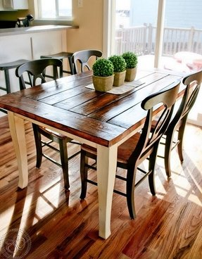 farmhouse kitchen tables and chairs - Farmhouse Kitchen Table