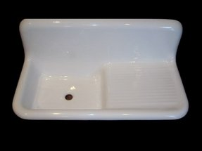 Fiberglass kitchen sink 1