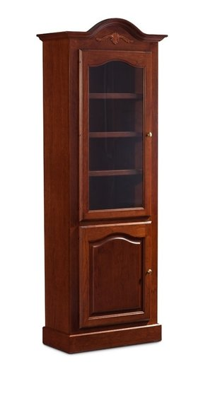 tall bookcase with glass doors foter. Black Bedroom Furniture Sets. Home Design Ideas