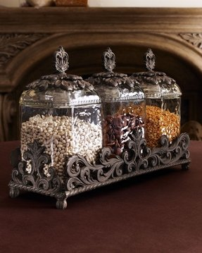 Glass kitchen canister sets