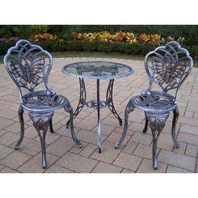 Glass Top Bistro Table Set - Foter