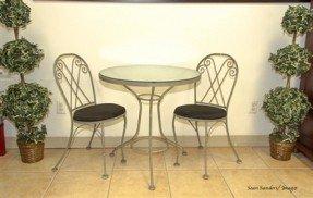 Merveilleux Glass Top Bistro Table Set 18