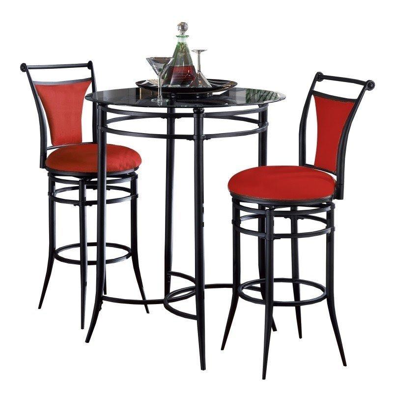 Merveilleux Glass Top Bistro Table Set 6