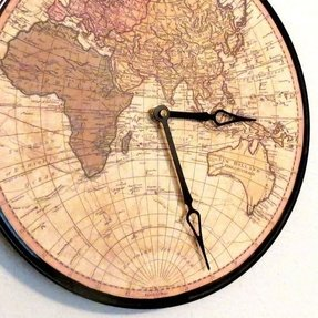 Wall clocks sale foter globe wall clock home and living map gumiabroncs Image collections