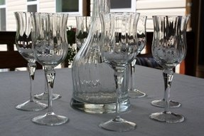 Hand blown crystal wine glasses 1