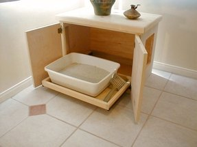 Hidden litter box furniture