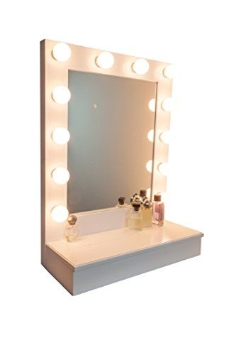 Hollywood D Luxe Vanity Mirror With Cabinet By Impressions Vanity White