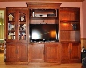 Hooker 3 piece maple entertainment center bookcases cabinets purchased 5
