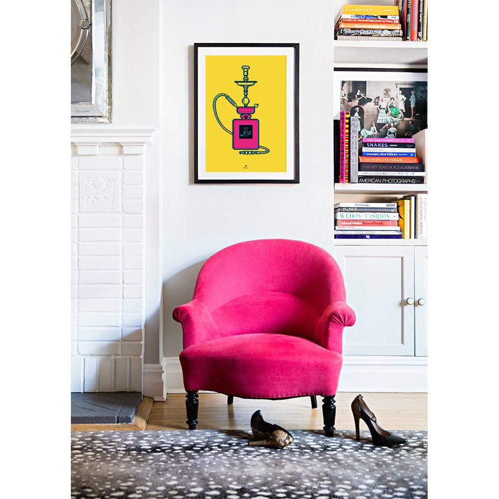 Bon Hot Pink Accent Chair