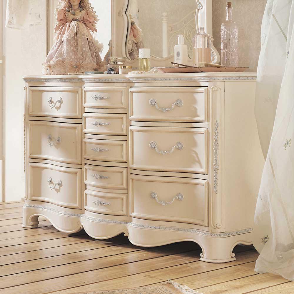 Jessica Mcclintock Romance Ten Drawer Bedroom Storage Dresser By Lea