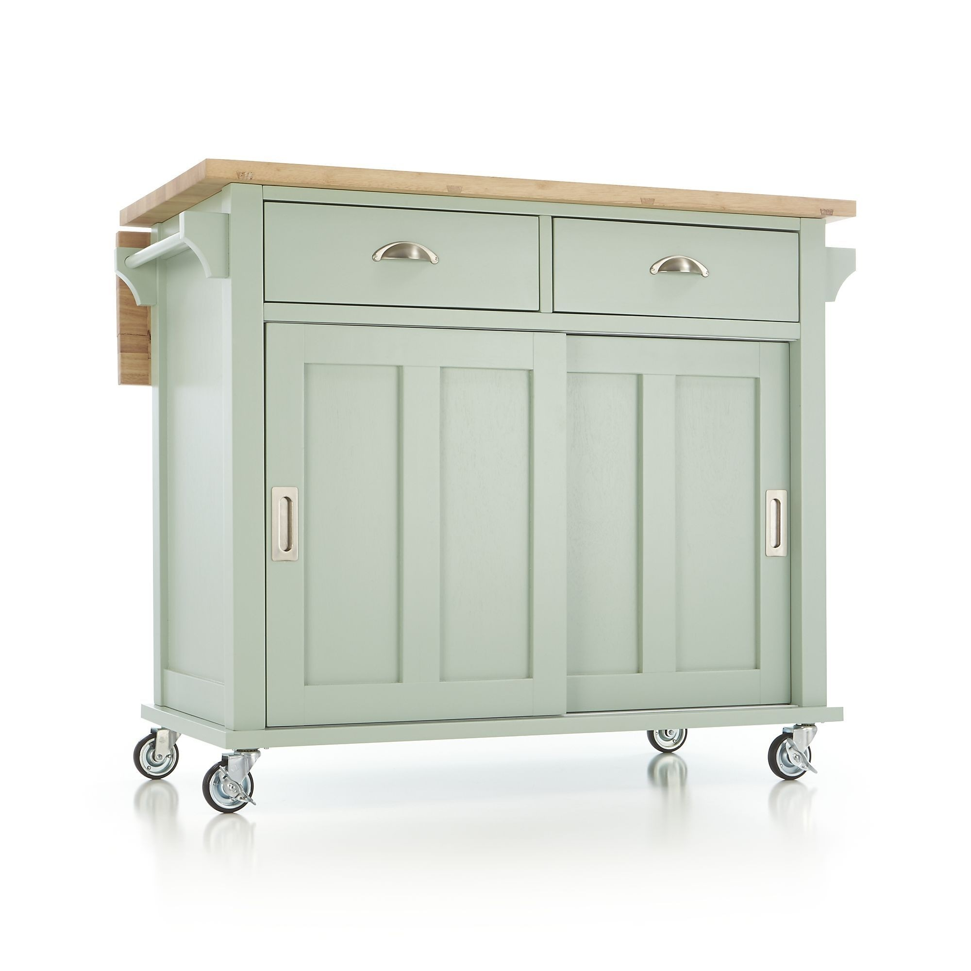 Kitchen island on wheels with seating