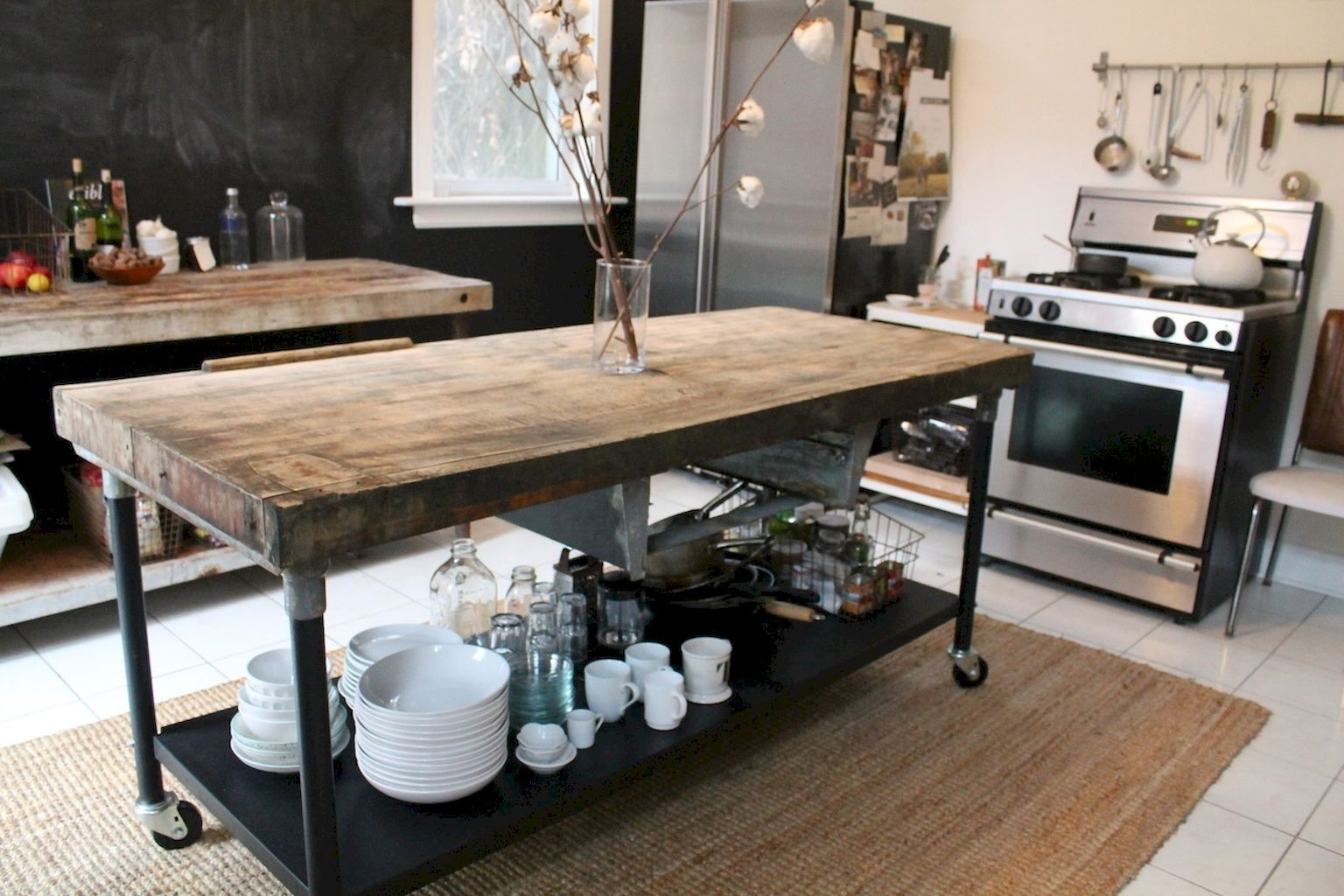Kitchen islands on casters 1