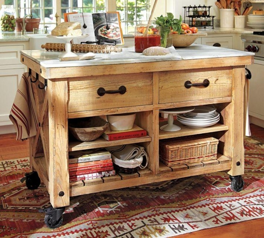 Ordinaire Kitchen Islands On Casters