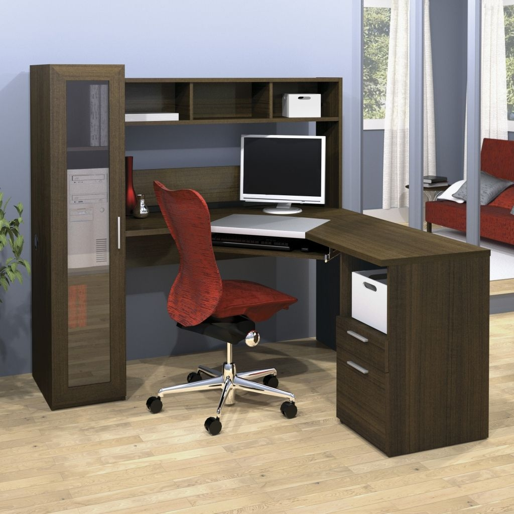 Delightful L Shaped Desk With File Drawers