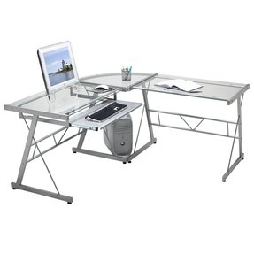 bf5cc2bfc01 L Shaped Glass Desk With Drawers - Ideas on Foter