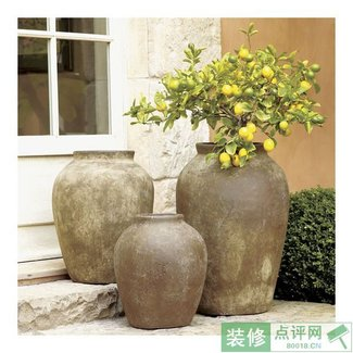 foter large ceramic explore planter outdoor planters
