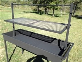 Large charcoal barbecue grills