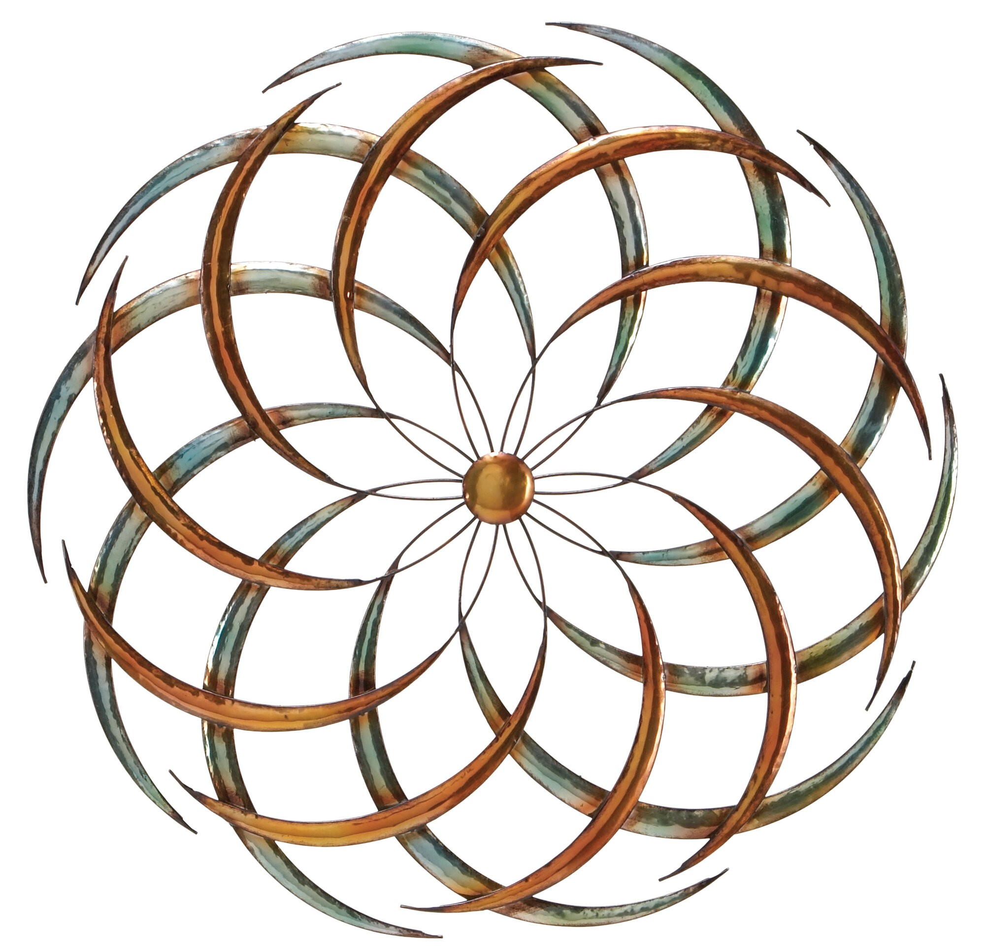Large Contemporary Abstract Art Wall Hanging Round Iron Decor Metal Plaque