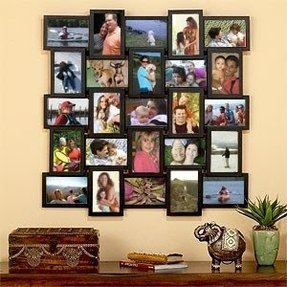 Large multi picture frames wall
