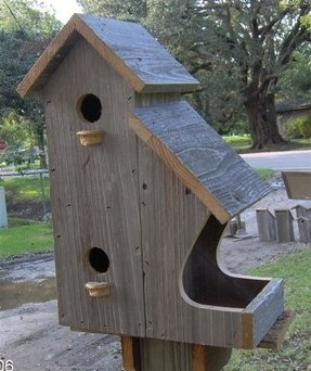 Large outdoor bird houses