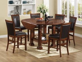 Legends furniture berkshire round convertible counter height dining table 1