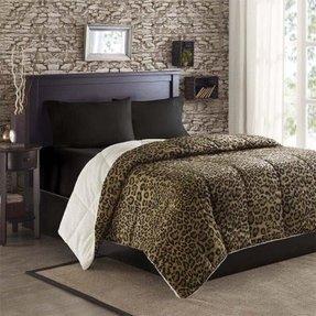 Leopard Print Comforter Set Queen - Foter