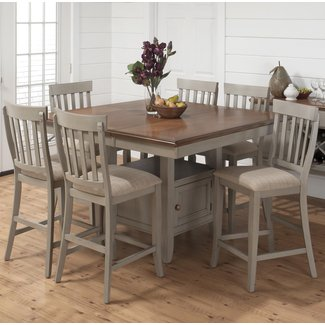 Light Wood Counter Height Dining Sets