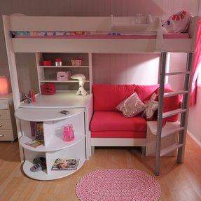 Loft Bed Desk Dresser 7