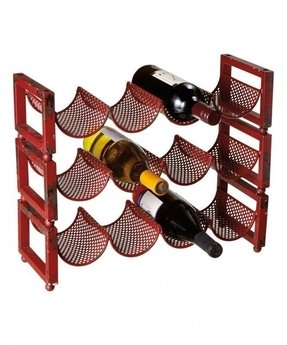 Look at this red stackable wine rack set of three