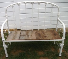 Metal bed bench 1
