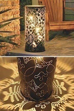 Metal hurricane candle holder 5