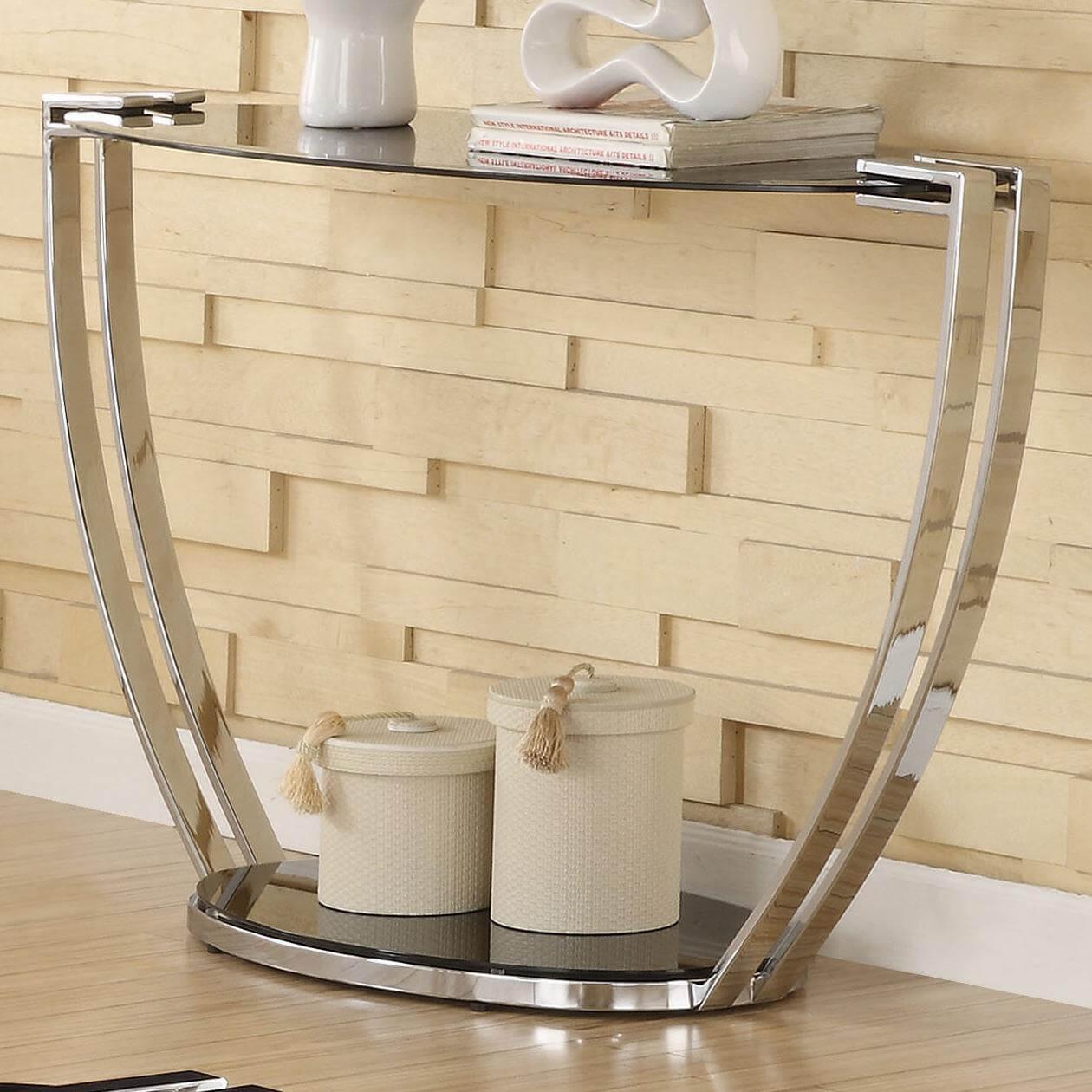 Metal Sofa Table With Glass Top 1
