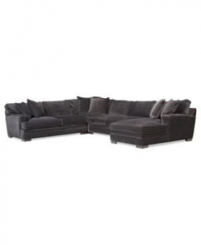 Microfiber chaise sectional 1