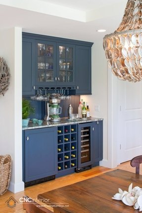 Mini Refrigerator Cabinet Bar