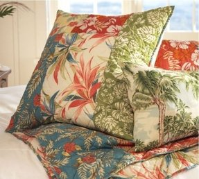 Palm beach patchwork quilt sham